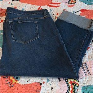Torrid Plus Cropped Boyfriend Jeans